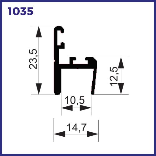 1035 - PERFIL DE VEDAÇÃO E ACABAMENTO COM DUAS ESCOVA