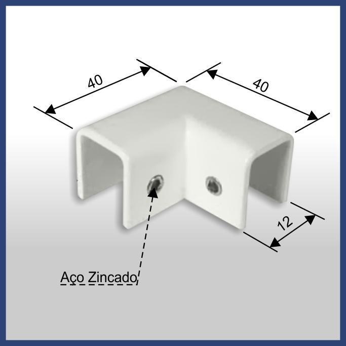 1350 - SUPORTE SUPERIOR PARA BOX DE CANTO 90°