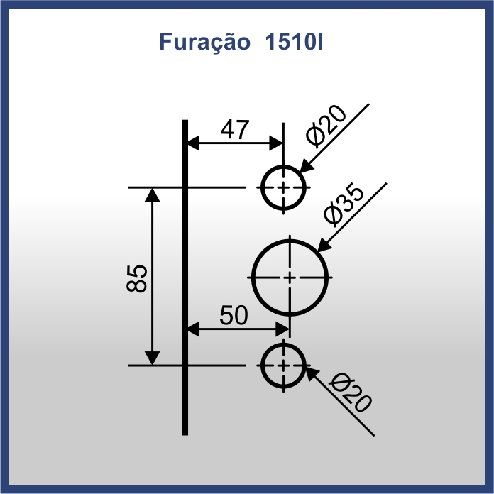 1511AI - CONTRA FECHADURA PARA 1510X COM FIXAÇÃO NO PERFIL 1018i