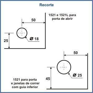1521L - TRINCO COM FERROLHO LATERAL