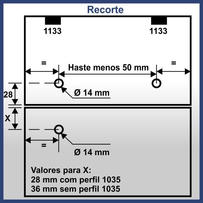 1587V - Conjunto de acéssorio para haste 1587 Vidro/Vidro