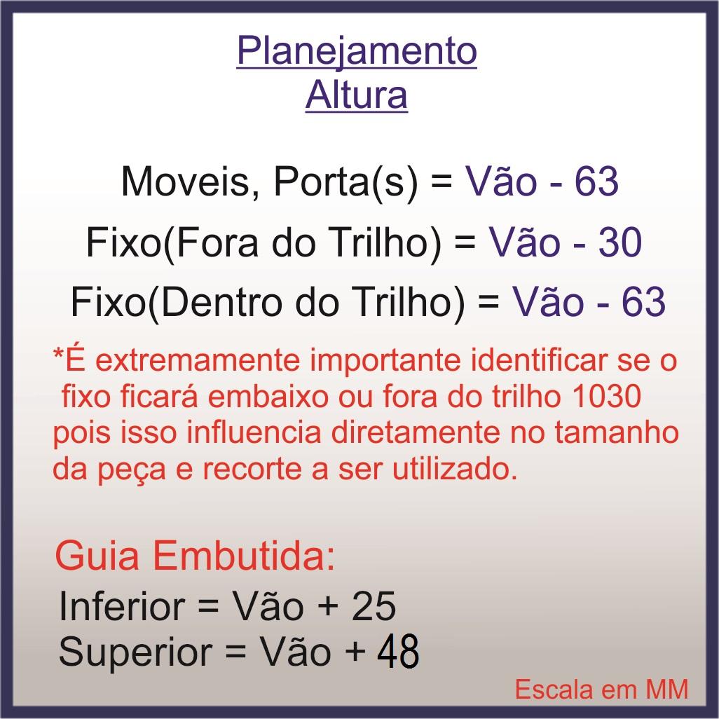 1722 - CONJUNTO DE MÃO AMIGA PARA TRILHO 1030 - TRANSPASSE DE 56MM